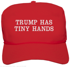 Trump his time hands hat