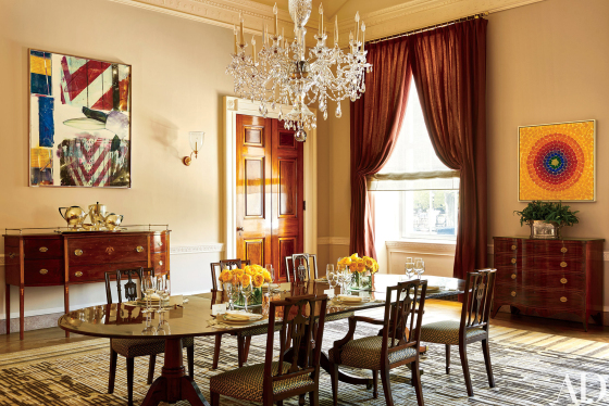 White House Residence Dining Room